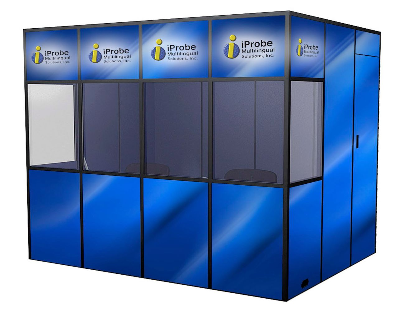 an illustration of a branded extra large asmr booth