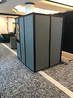 a picture of the back of the compact-12 sound isolation booth