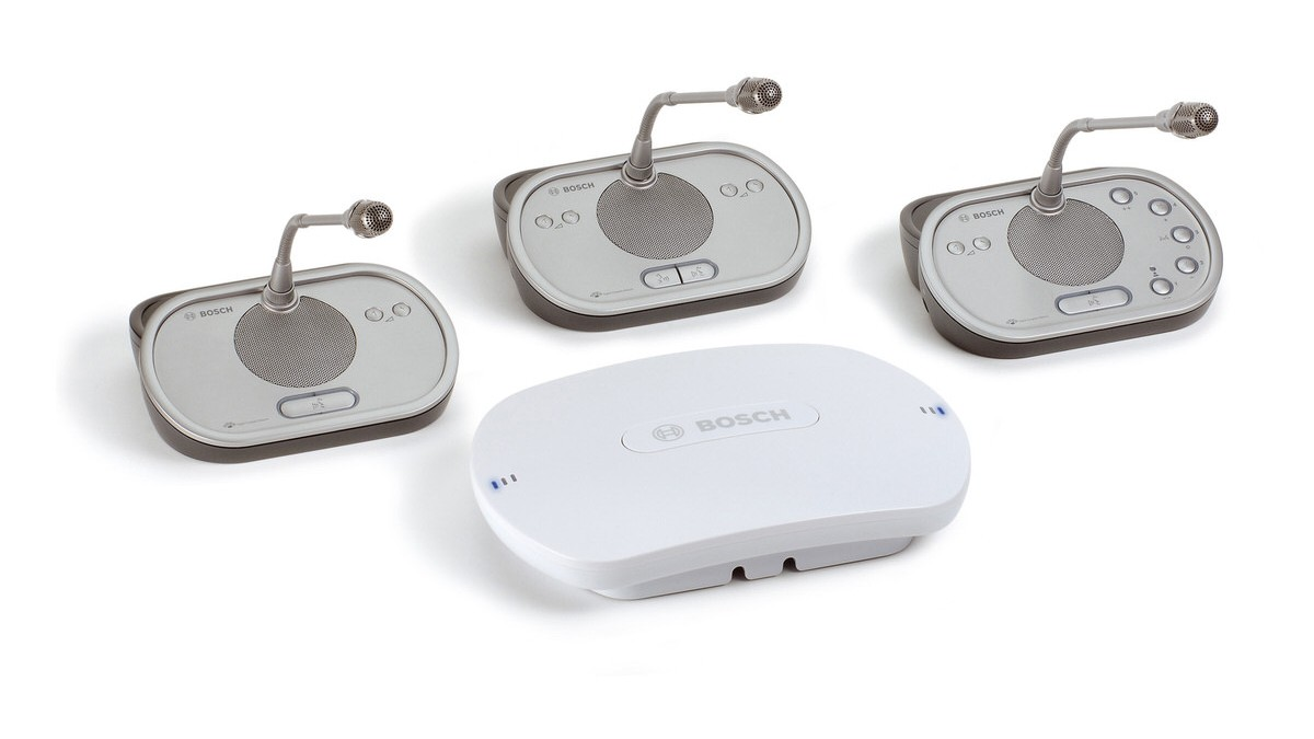 three DCN wireless devices and a wireless access point