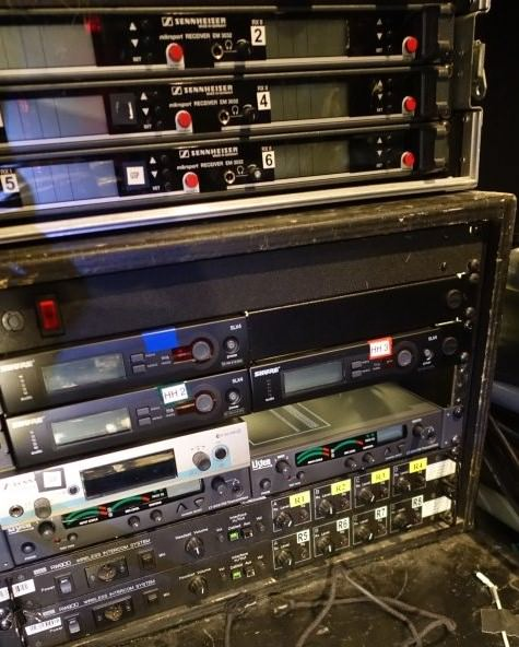 FM transmitters in the rack<