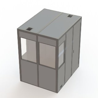 an illustration of the compact-12 sound isolation booth
