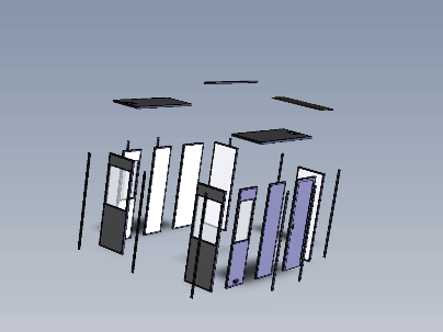 illustration of exploded interpreter booth panels