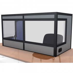 a table top interpreter booth